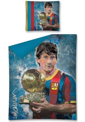 Messi Dekbed barcelona Messi art: 140x200/70x80 cm