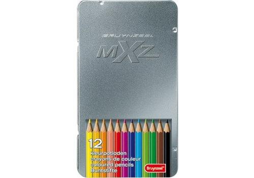 Kleurpotloden in blik MXZ: 12 stuks (7524M12)