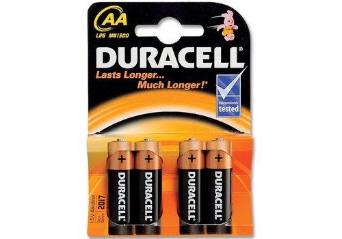 Batterijen Duracell Plus Power MN 1500 AA: 4 stuks