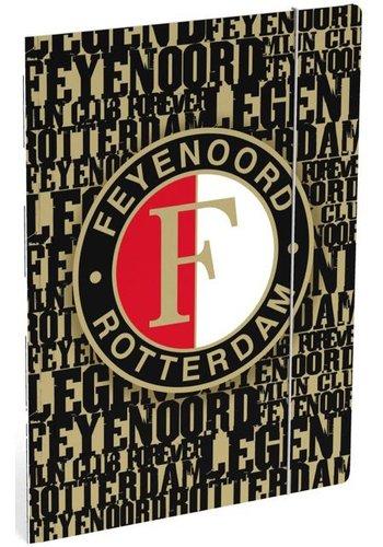 Feyenoord Elastomap feyenoord A4 zwart/goud (397010NL)