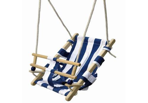 Babyschommel blauw/wit New Classic Toys 45x35 cm