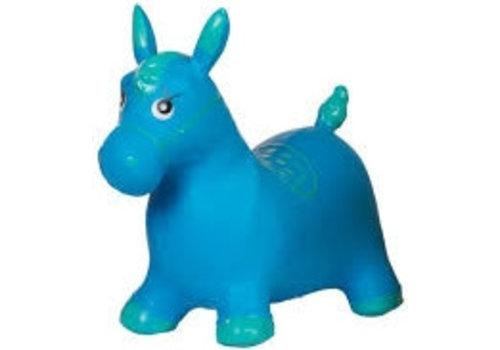 Skippy paard blauw Eddy Toys 49x43x28 cm (92482BL)