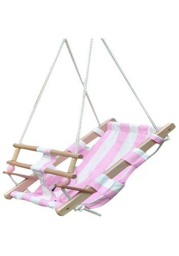 Babyschommel New Classic Toys roze/wit 56x32x160 cm