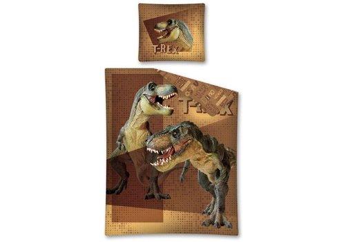 Dekbed Dino: T-Rex dots 140x200/70x80 cm