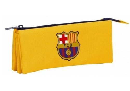 FC Barcelona Etui barcelona geel triple: 21x9x7 cm