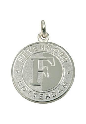 Feyenoord Hanger feyenoord zilver reliëf logo klein 22mm