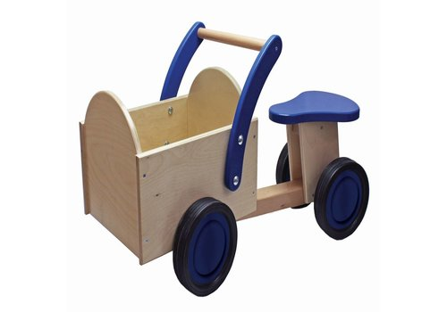 Bakfiets New Classic Toys: blauw/blank 37x63x28 cm (11403)