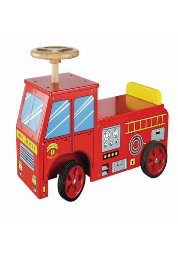 Loopauto brandweer New Classic Toys 43x60x22 cm (11370)