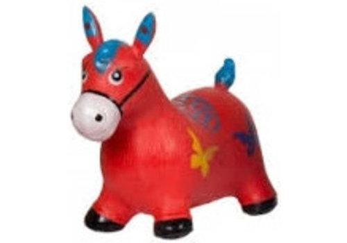 Skippy paard rood Eddy Toys 49x43x28 cm (92482RD)