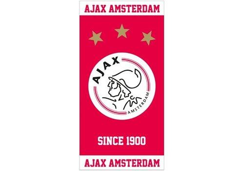Ajax  Handdoek ajax rood/wit since 1900: 50x100 cm