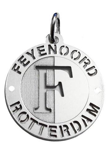 Feyenoord Hanger feyenoord zilver open logo groot 28mm