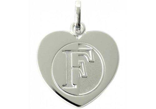 Feyenoord Hanger feyenoord zilver reliëf hart