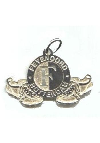 Feyenoord Hanger feyenoord zilver logo/schoenen klein