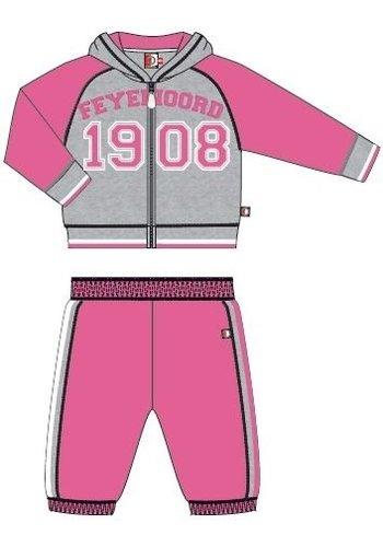 Feyenoord Joggingpak feyenoord baby grijs/roze
