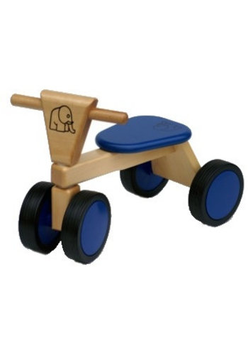 Loopfiets met 4 wielen blauw Van Bueren 55x42x30 cm (66201)