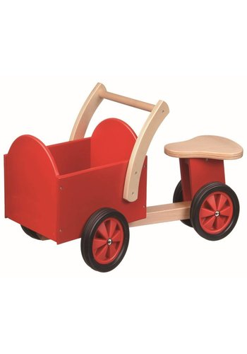 Bakfiets New Classic Toys: rood/blank 37x63x28 cm (11400)