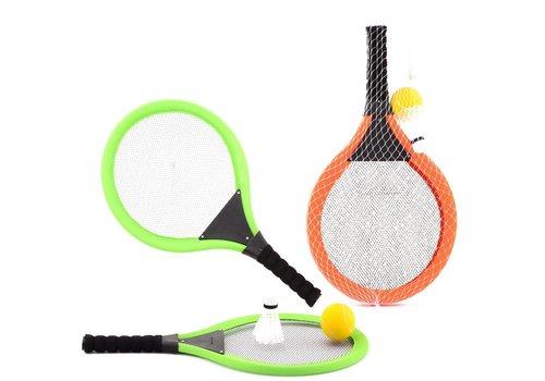Tennisspel JohnToy met bal en shuttle (29501)
