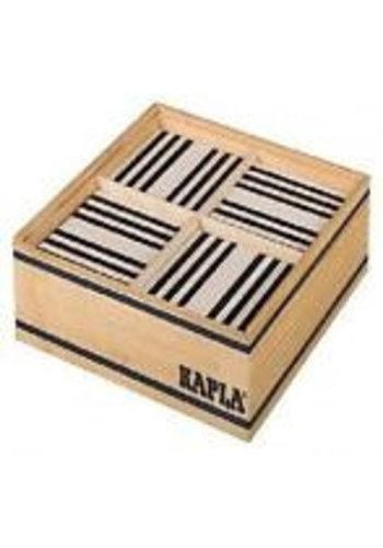 Kapla: 100 stuks in kist zwart/wit (8004)