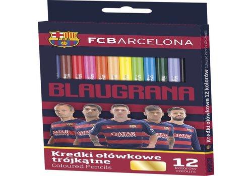 FC Barcelona Kleurpotloden barcelona: 12 stuks