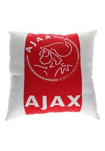 AJAX  Kussen ajax rood/wit: 40x40 cm