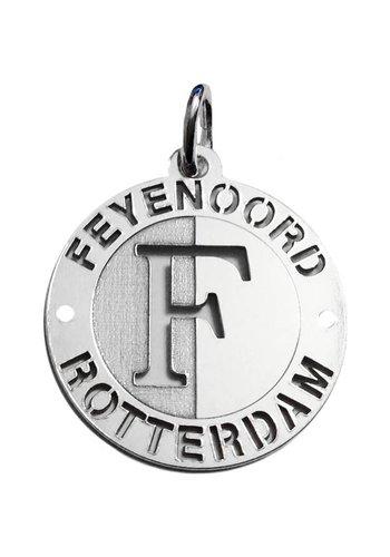Feyenoord Hanger feyenoord zilver open logo klein 22mm