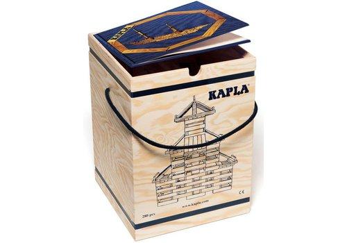 Kapla: 280 stuks in kist met boek: blauw (8003-BLAUW)
