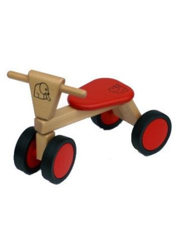 Loopfiets met 4 wielen rood Van Bueren 55x42x30 cm (66200)