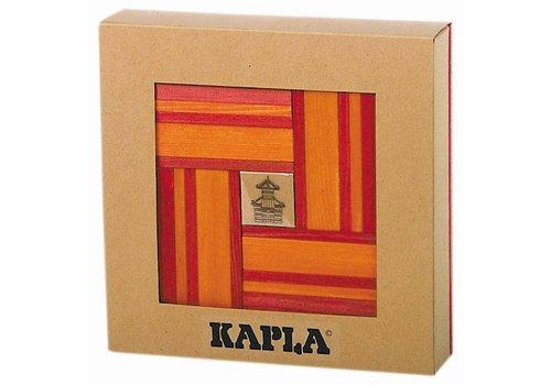 Kapla 40 stuks kleur met boekje rood/oranje
