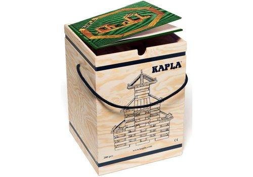 Kapla: 280 stuks in kist met boek: groen (8003-GROEN)