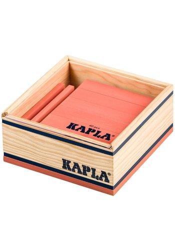Kapla: 40 stuks in kist roze (8025)