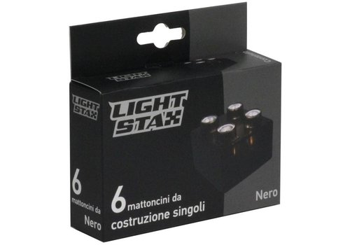 Uitbreiding Light Stax junior: zwart 6 stuks 2x2 (LS-M04009)
