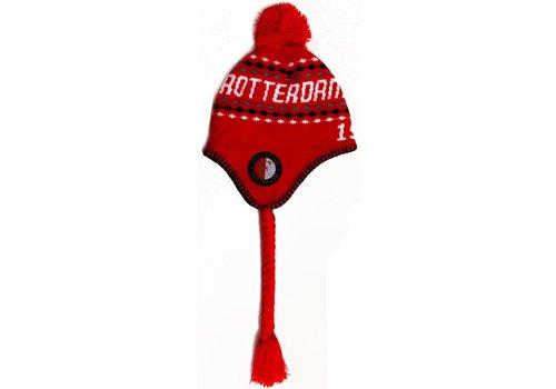 Feyenoord Muts feyenoord senior rood met flappen