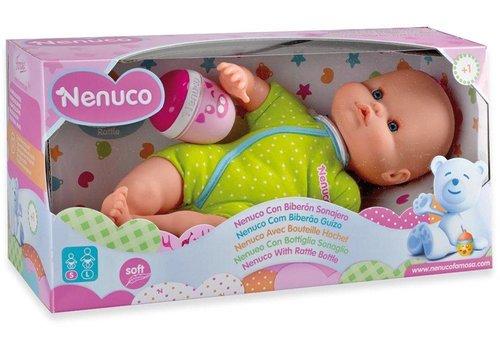 Pop Nenuco soft met fles-rammelaar: groen (21696/700012087)