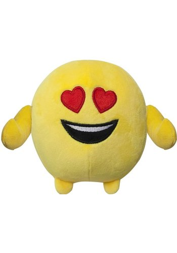 Kussen pluche Emoji: verliefd 18 cm (40043)