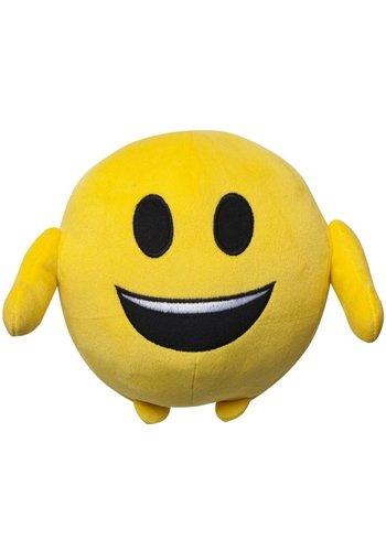 Kussen pluche Emoji: lach 18 cm (40003)