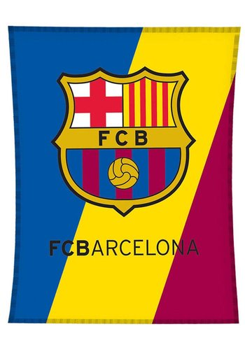 FC Barcelona Plaid barcelona logo: 110x140 cm