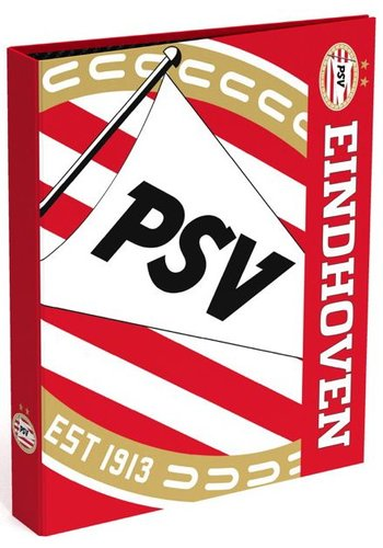 Ringband psv A4 rood/wit blow 23-rings (393142)
