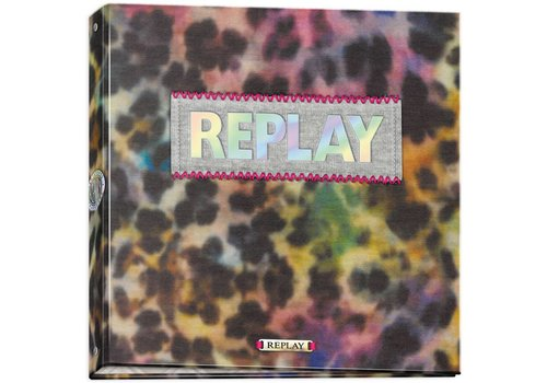 Ringband Replay Girls leopard 23-rings (162RPG223STE)