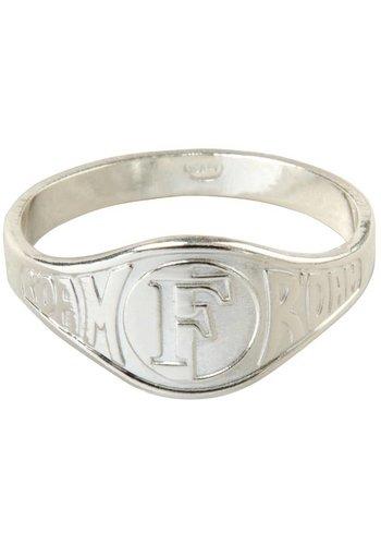 Feyenoord Ring feyenoord zilver reliëf