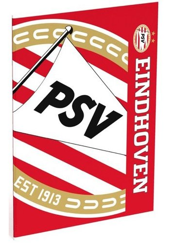 PSV Schrift psv rood/wit blow A4 gelijnd (394989)