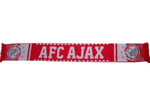 Ajax  Sjaal ajax rood/wit kartelrand (1755AJAXKART))