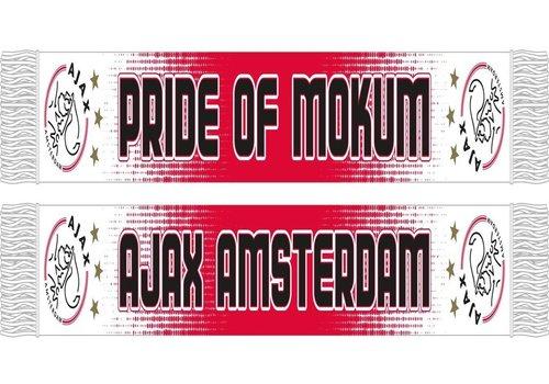 Ajax  Sjaal ajax rood/wit gespikkeld (PRID1900SPIK)