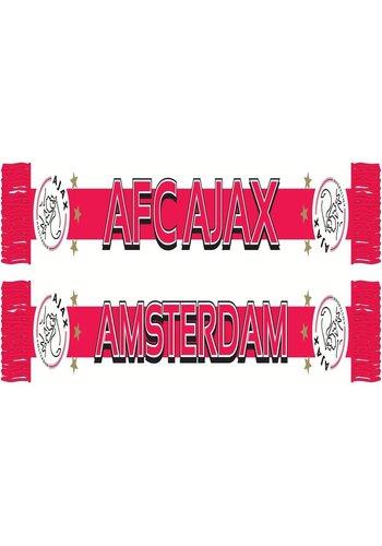 AJAX  Sjaal ajax wit/rood/wit baan (1755WRWAJAX)