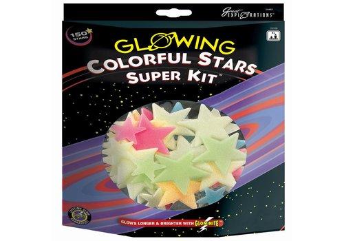 Glow in the Dark sterren: Colorful Stars Super Kit (29108)