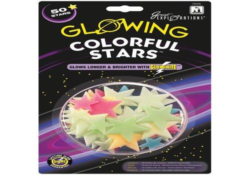 Glow in the Dark sterren: Colorful Stars (29008)