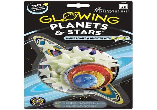 Glow in the Dark sterren: Planets & Stars (29034)