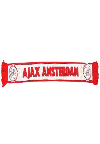 AJAX  Sjaal ajax rood/wit kartelrand