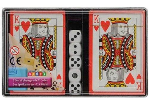 Speelkaarten met dobbelstenen: 2-pack (17886)