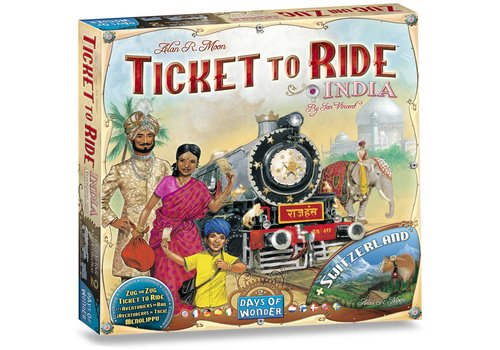 Ticket to ride India/Zwitserland (75118)