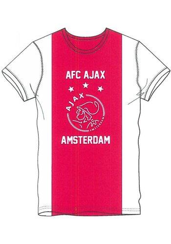 AJAX  T-shirt ajax wit/rood/wit AFC